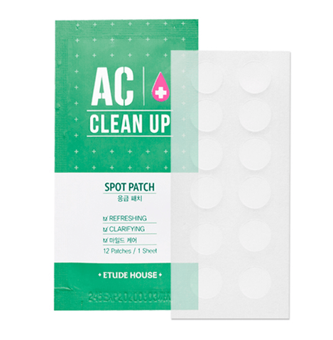 Etude House AC CLEAN UP Spot Patch 1pcs (12 Patches) - eCosmeticWorld