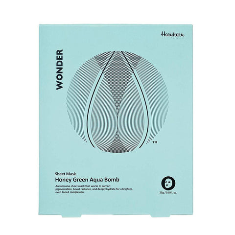 Haruharu WONDER Honey Green Aqua Bomb Mask - eCosmeticWorld