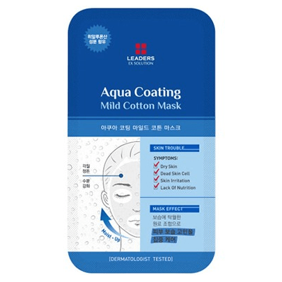 LEADERS EX Solution Aqua Coating Mild Cotton Mask - eCosmeticWorld