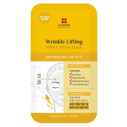 LEADERS EX Solution Wrinkle Lifting Mild Cotton Mask - eCosmeticWorld