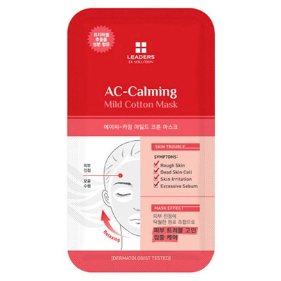 LEADERS EX Solution AC-Calming Mild Cotton Mask - eCosmeticWorld