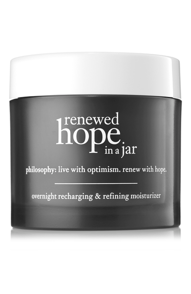 philosophy renewed hope in a jar overnight recharging & refining moisturizer