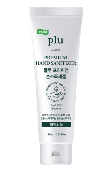 plu Premium Hand Sanitizer Moisturizing with Aloe & Green Tea, 180 ml / 6.35 fl. oz - eCosmeticWorld