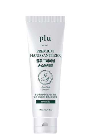 plu Premium Hand Sanitizer Moisturizing with Aloe & Green Tea, 100 ml / 3.38 fl. oz - eCosmeticWorld