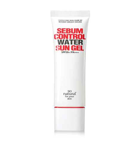 so natural Sebum Control Water Sun Gel SPF 50+ / PA+++ - eCosmeticWorld