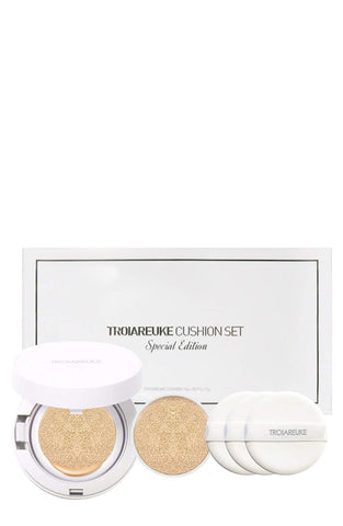 TROIAREUKE Skincare A+ Cushion Foundation SPF 50+ / PA++++ & Refill Special Set