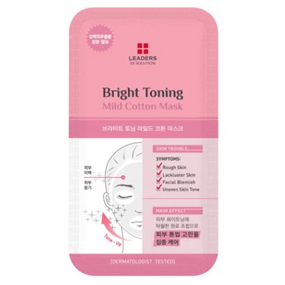 LEADERS EX Solution Bright Toning Mild Cotton Mask - eCosmeticWorld