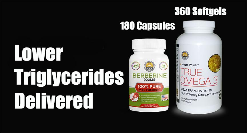 The Triglyceride Ticket for Lowering Triglycerides (2 and 3 month supply)