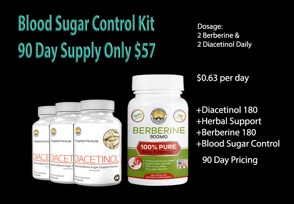 Blood Sugar Control Kit 90 Day Supply