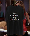 NO UTERUS NO OPINION POLERA NEGRA