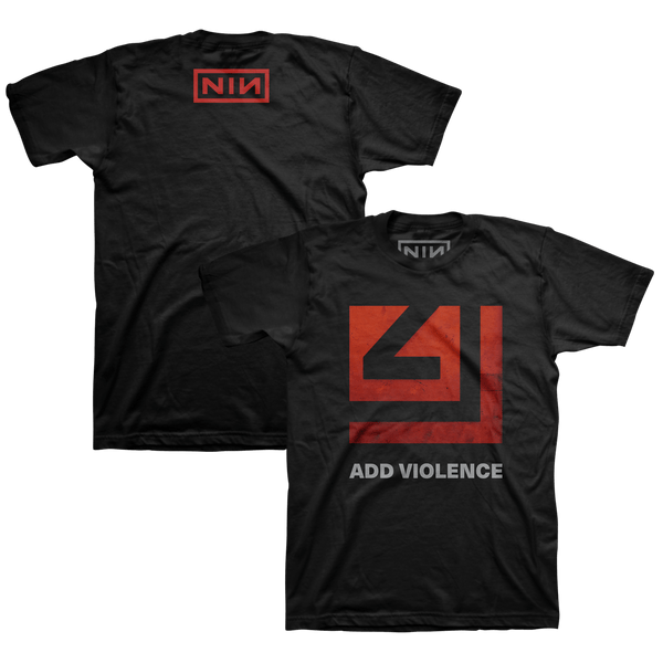 ADD VIOLENCE SQUARE BLACK TEE - NINE INCH NAILS