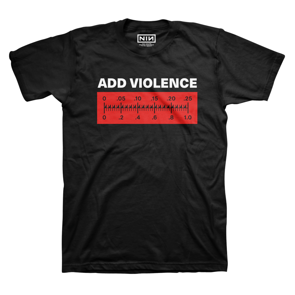 ADD VIOLENCE METER TEE - NINE INCH NAILS