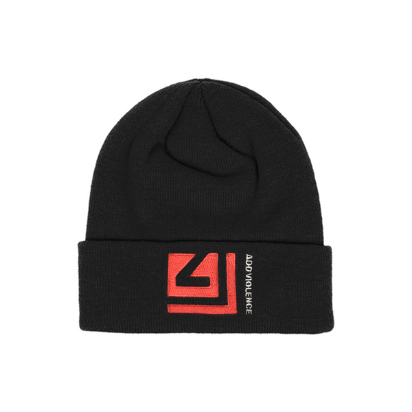ADD VIOLENCE SQUARE BLACK BEANIE - NINE INCH NAILS