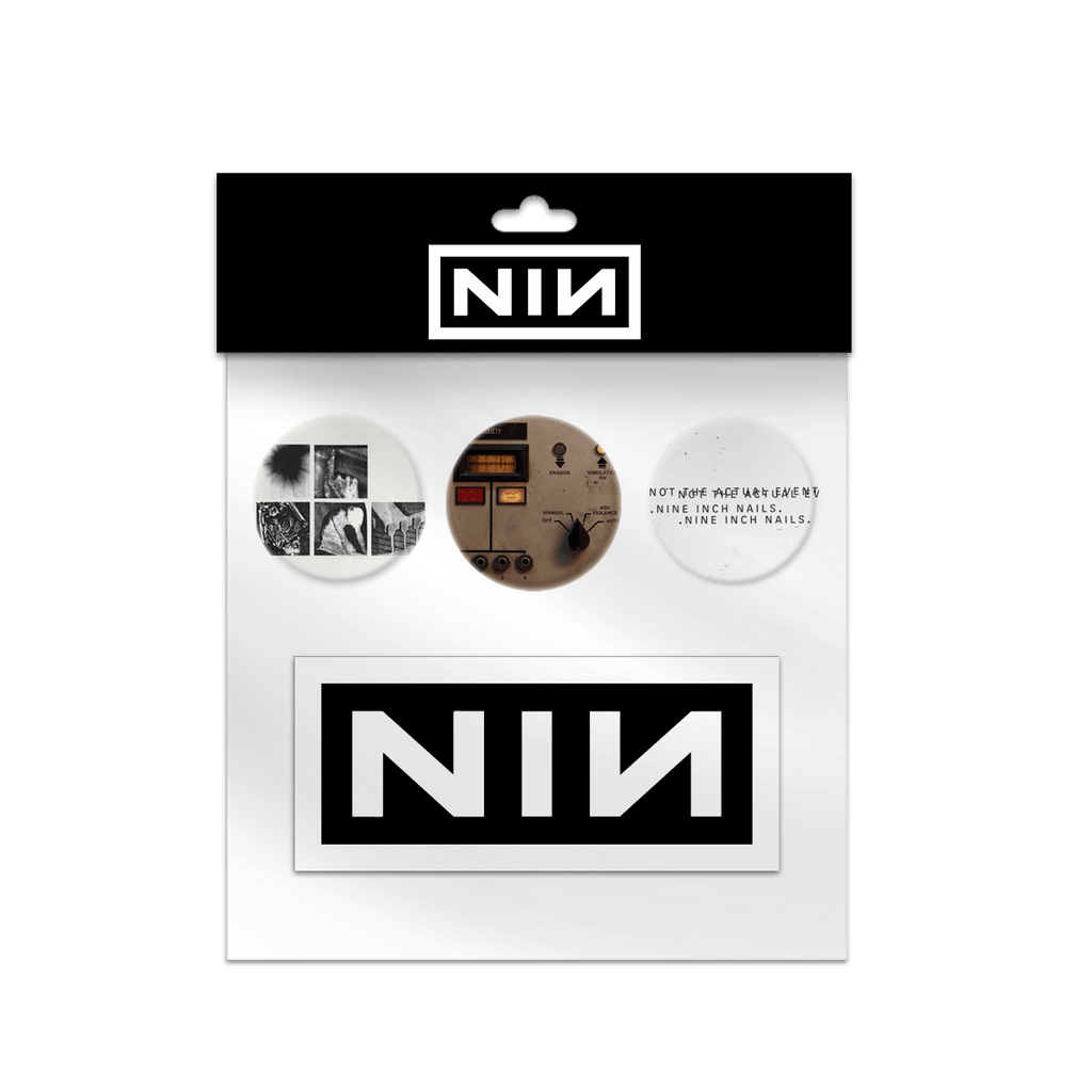 BUTTON STICKER PACK - NINE INCH NAILS