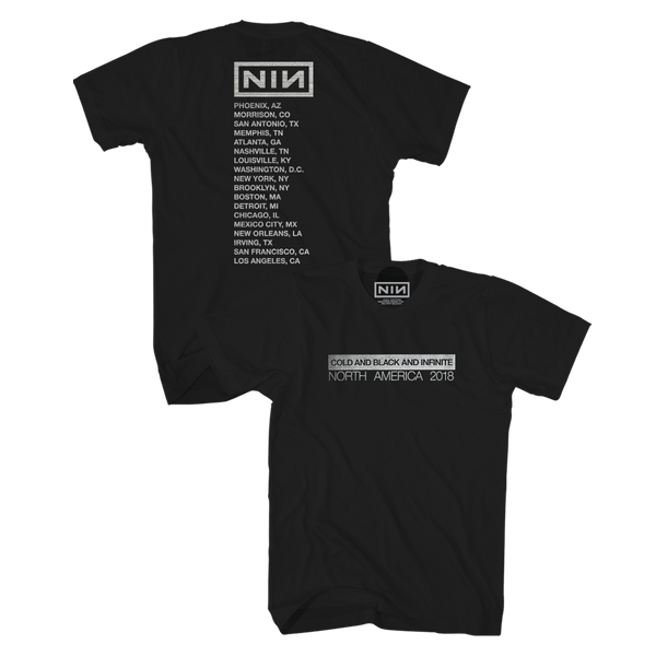 82e8662f COLD AND BLACK AND INFINITE TOUR TEE - NINE INCH NAILS