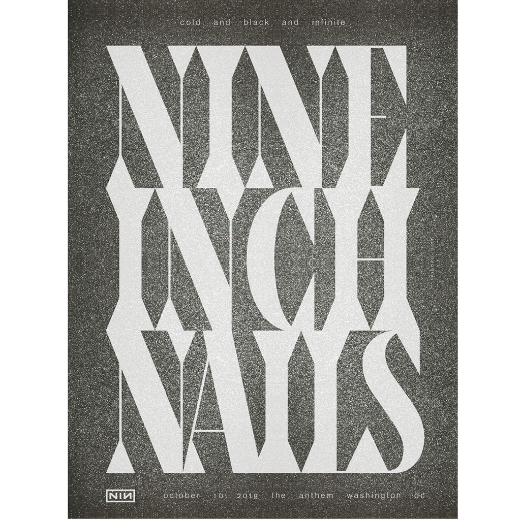 WASHINGTON DC EVENT POSTER NIGHT 2 - NINE INCH NAILS