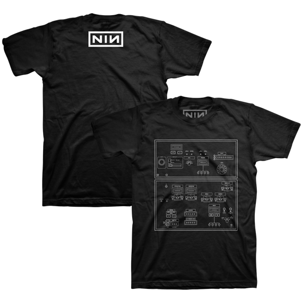 DIAGRAM BLACK TEE - NINE INCH NAILS
