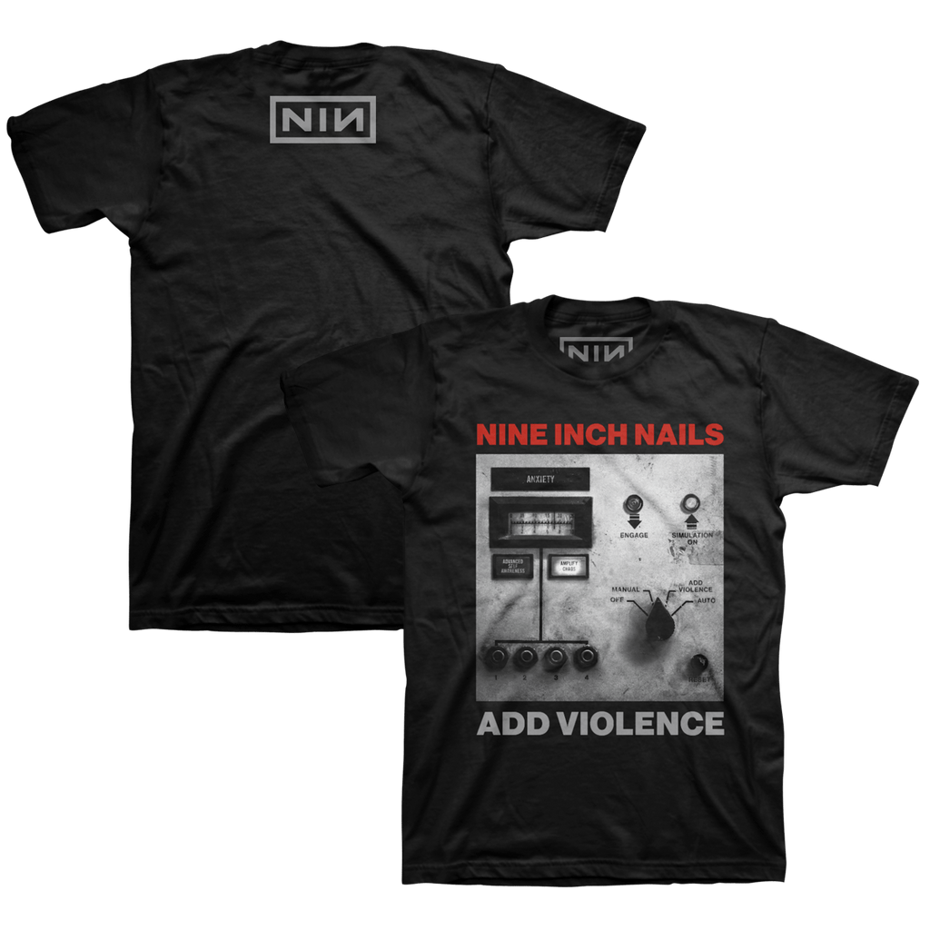 ADD VIOLENCE ALBUM COVER BLACK TEE - NINE INCH NAILS