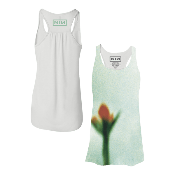 FRAGILE FLOWER WOMEN'S RACERBACK TANK - NINE INCH NAILS