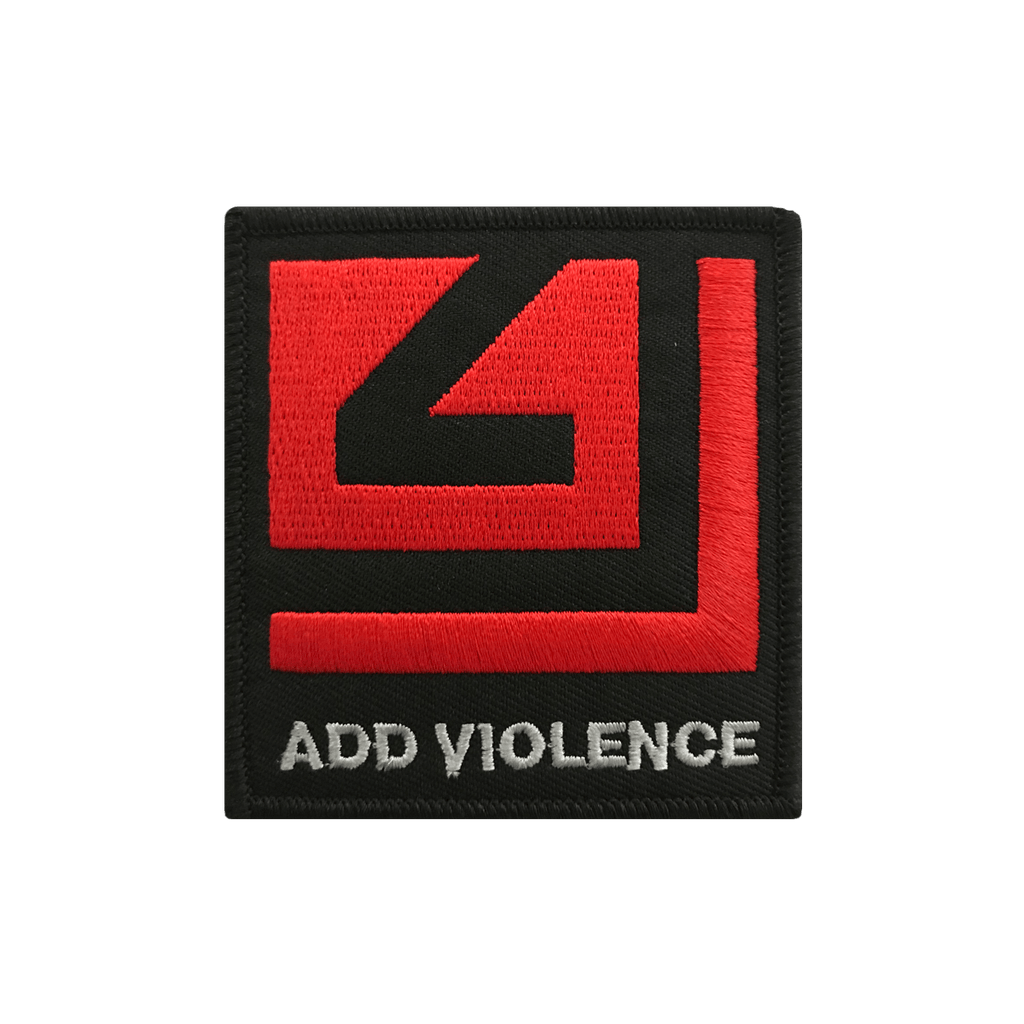 Add Violence Red Logo Patch Nine Inch Nails