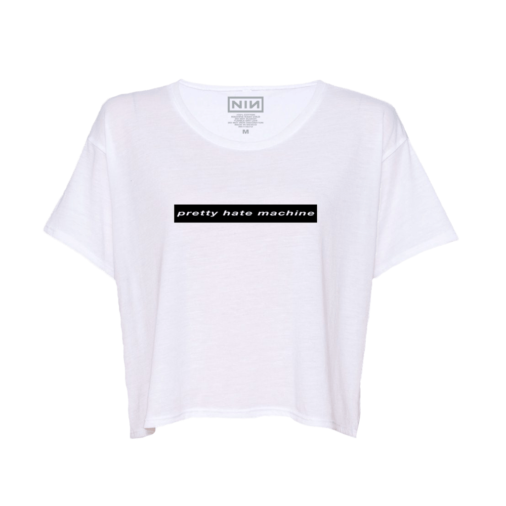 PRETTY HATE MACHINE WOMENS CROP TOP - NINE INCH NAILS