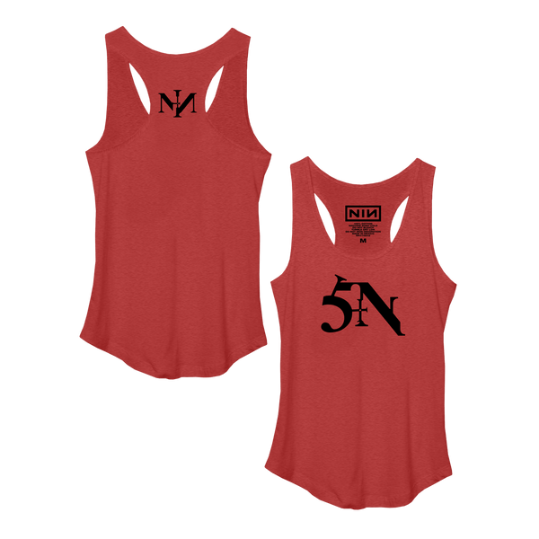 SIN WOMEN'S RACERBACK TANK - NINE INCH NAILS
