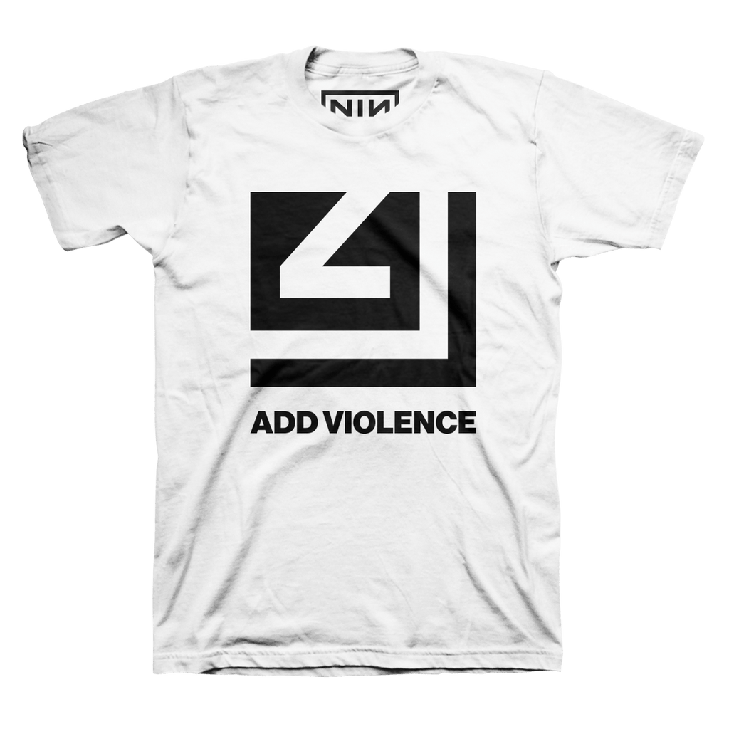 ADD VIOLENCE CUTOUT WHITE TEE - NINE INCH NAILS