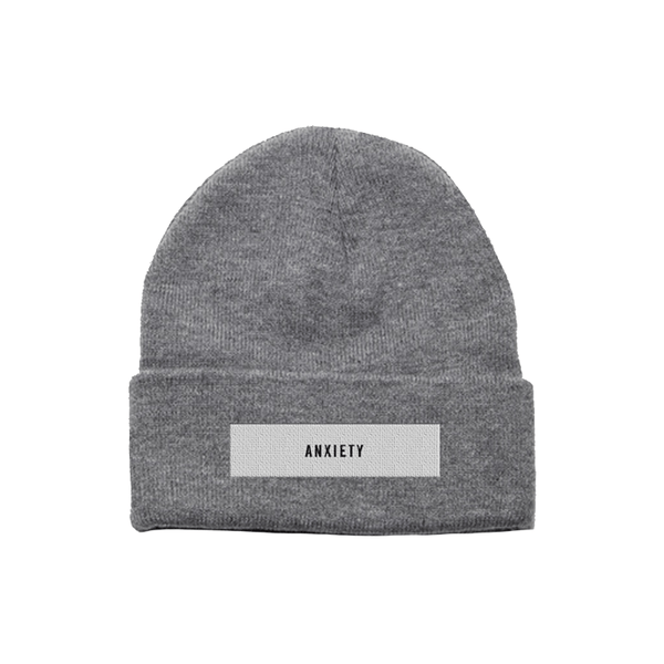 ANXIETY GREY BEANIE - NINE INCH NAILS