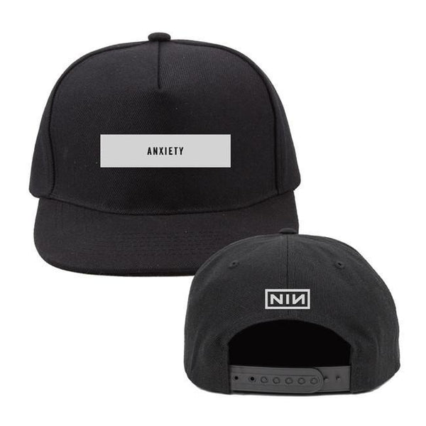 ANXIETY BLACK BASEBALL HAT - NINE INCH NAILS
