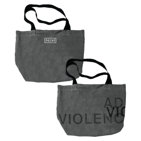 ADD VIOLENCE GREY TOTE BAG - NINE INCH NAILS