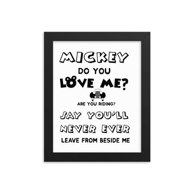 Mickey Do You Love Me? Print