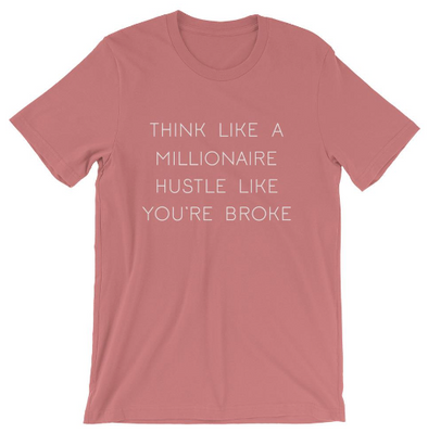 Think Like A Millionaire, Hustle Like You're Broke - RTS