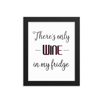 There's Only Wine In My Fridge Print