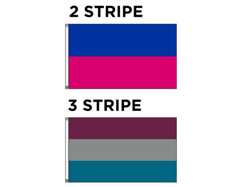 Horizontal Decorative Flag - Stripes - 2 or 3 Stripe Styles
