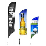 Premium Wind / Tail Feather Flags - FLAGS ONLY