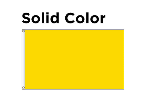 Horizontal Decorative Flag - Solid Color