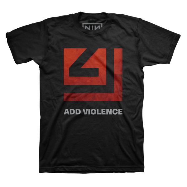 ADD VIOLENCE SQUARE BLACK TEE - Nine Inch Nails UK
