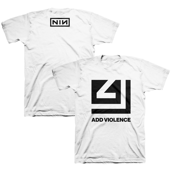 ADD VIOLENCE CUTOUT WHITE TEE - Nine Inch Nails UK