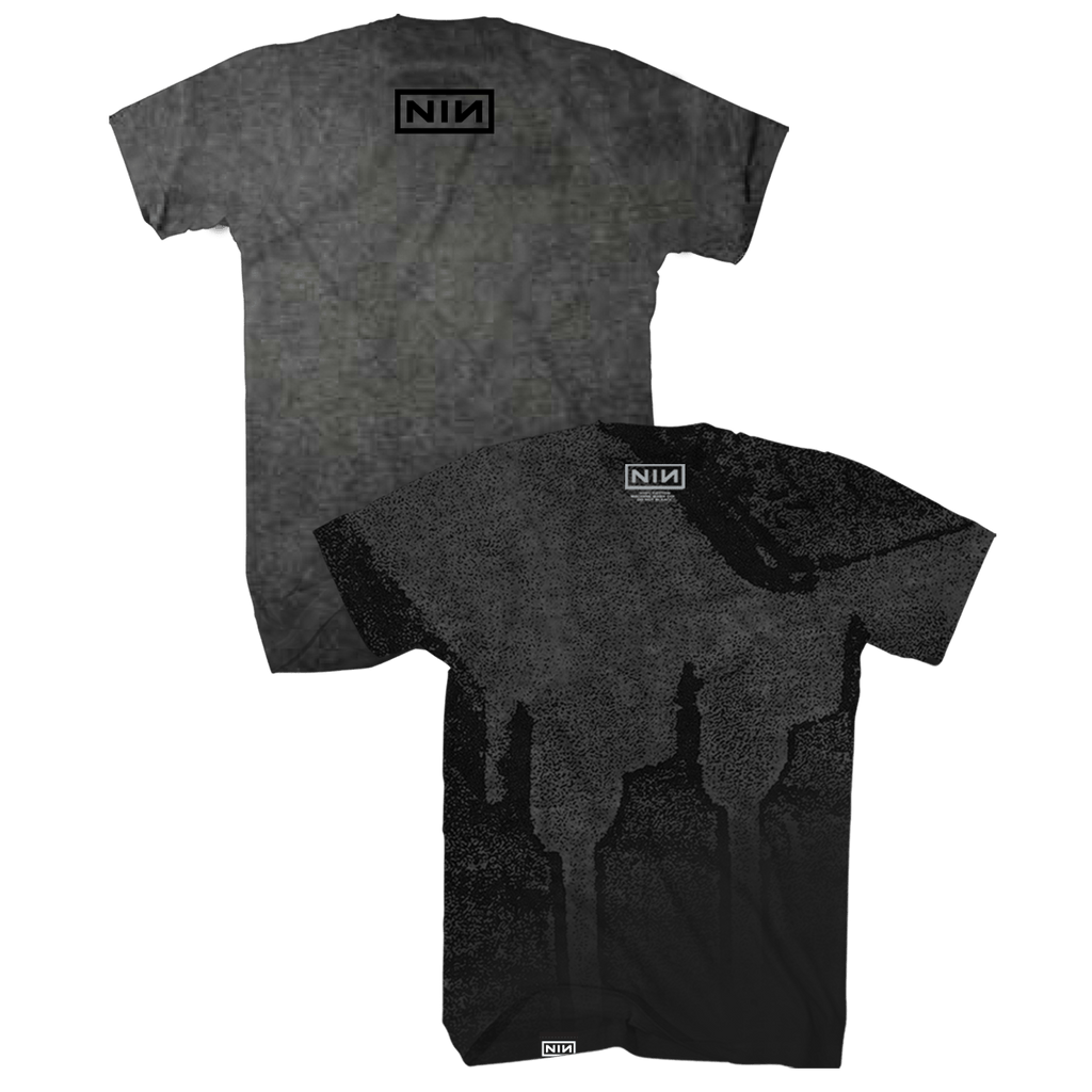 CHIP OIL WASH TEE - Nine Inch Nails UK