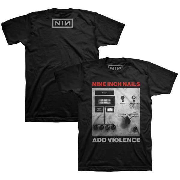 ADD VIOLENCE ALBUM COVER BLACK TEE - Nine Inch Nails UK