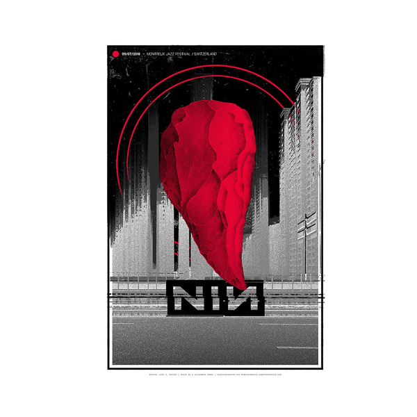 MONTREUX JAZZ FESTIVAL POSTER - Nine Inch Nails UK