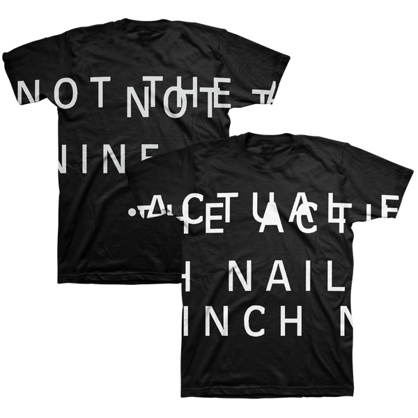 NOT THE ACTUAL EVENTS BLACK TEE - NINE INCH NAILS