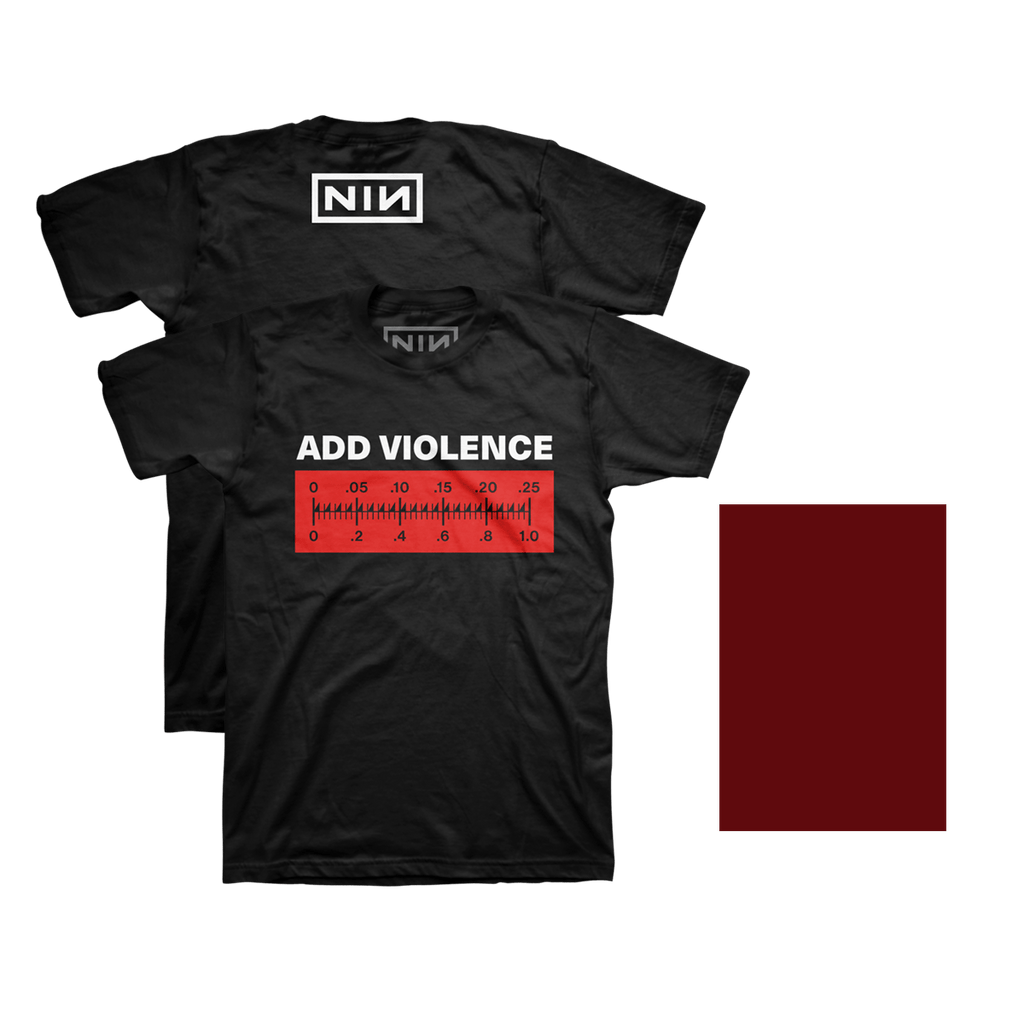 ADD VIOLENCE DIGITAL EP + PHYSICAL COMPONENT + ADD VIOLENCE METER TEE - Nine Inch Nails UK