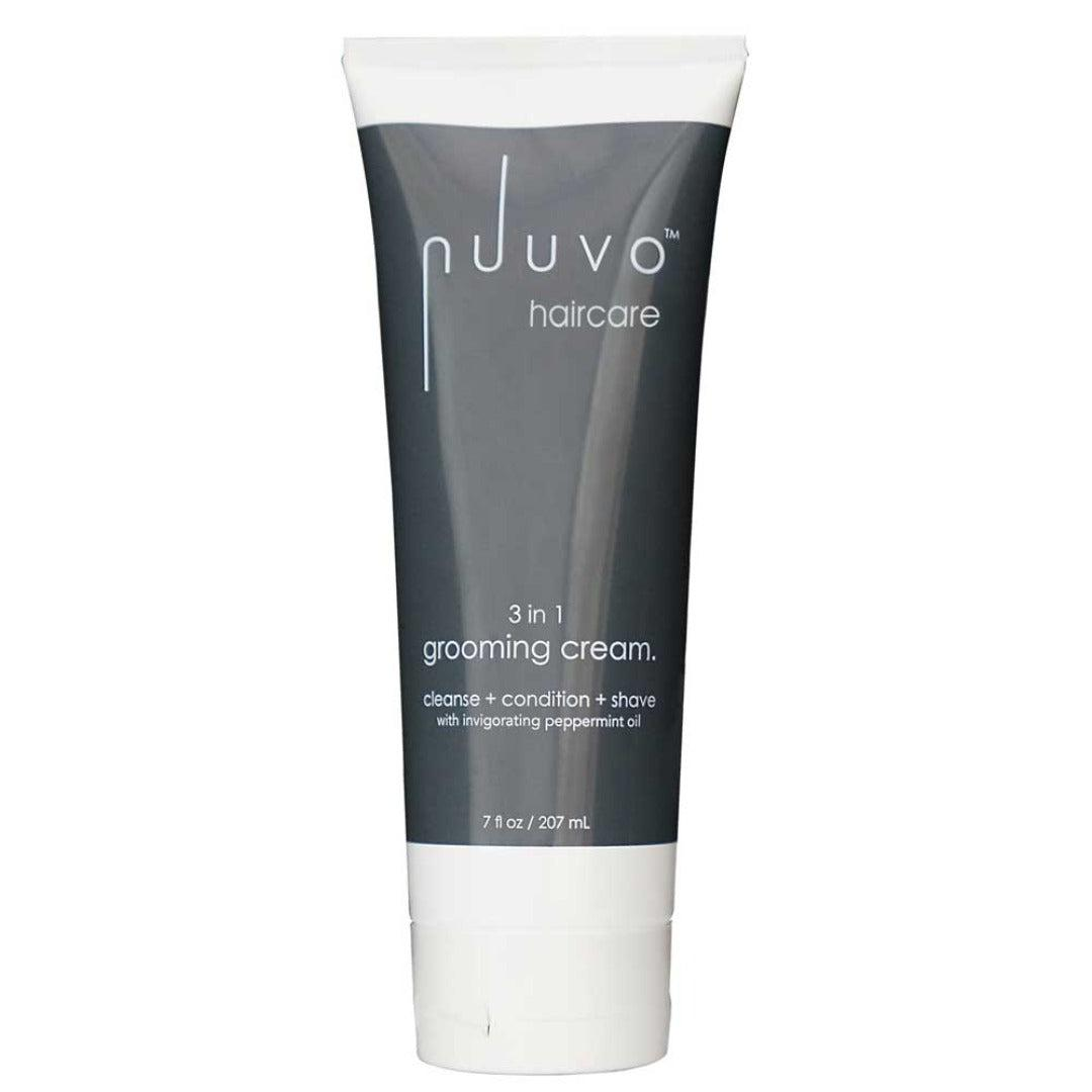 3 in 1 Grooming Cream (7oz) - cleanse, condition & shave cream - Nuuvo Haircare