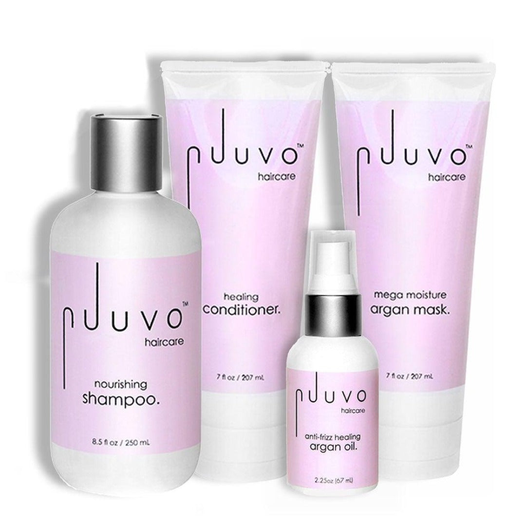 Quad Set - plant based blend for hydration / moisture - Nuuvo Haircare