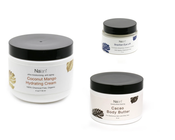 Coconut Mango Hydrating Cream + Cacao Body Butter + Brazilian Eye Lift Combo 30% OFF Package
