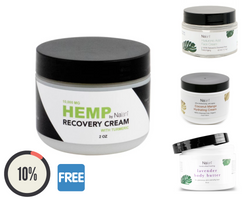 Hemp Recovery Cream + Brazilian Eye Lift + Mango Hydrating Cream + Lavender Body Butter Combo 4 Item 30% OFF Package
