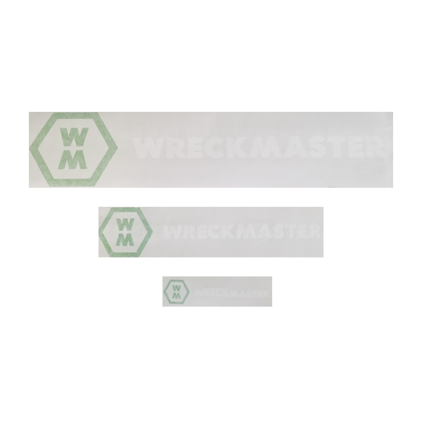 New WreckMaster Decals in White