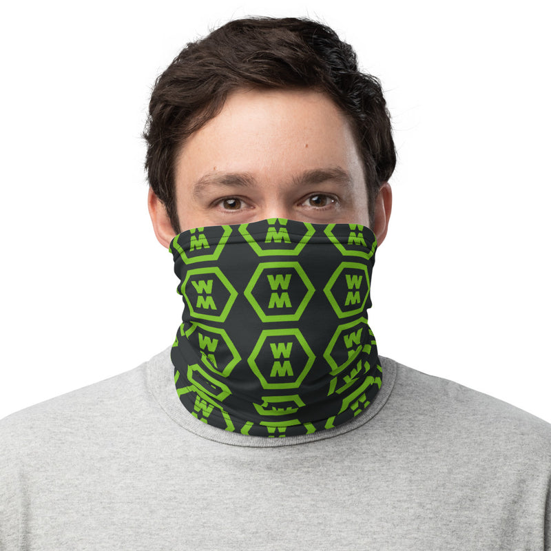Black & Green Neck Gaiter
