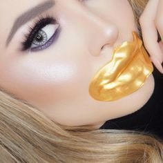 Gold Collagen Lip Masks with Hyaluronic Acid for Plump and Beautiful Lips 10 Pack